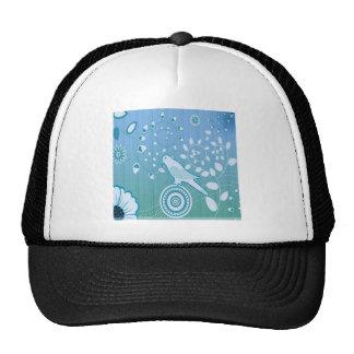 Bird Leaf Swirl Blossom Graphic Design Trucker Hat