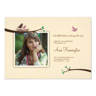 "Bird leaving Nest Photo Graduation Announcement 5"" X 7"" Invitation Card"