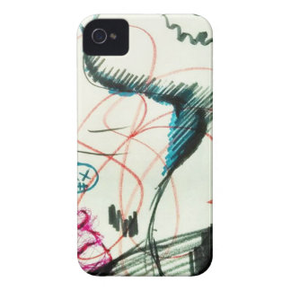 Bird Line and the Dancing Pen iPhone 4 Cover