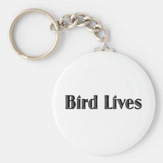 Bird Lives Basic Round Button Keychain