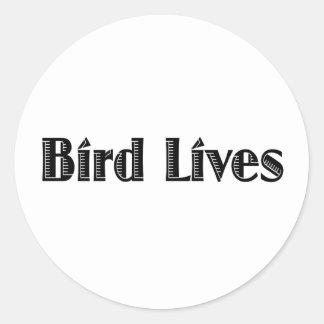 Bird Lives Classic Round Sticker