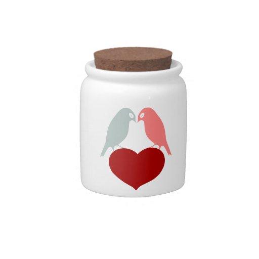 bird love hearts candy dish