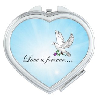 Bird LOVE Is Forever Travel Mirror