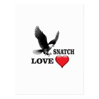 bird love snatch postcard