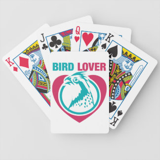 Bird lover bicycle playing cards