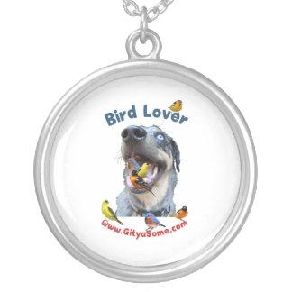 Bird Lover Dog Pendant
