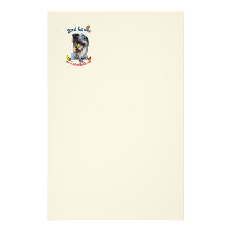 Bird Lover Dog Stationery Paper