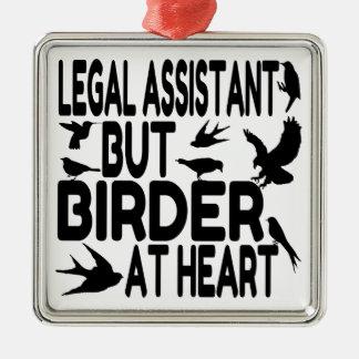 Bird Lover Legal Assistant Metal Ornament