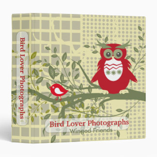 Bird Lover Photographs 3 Ring Binder