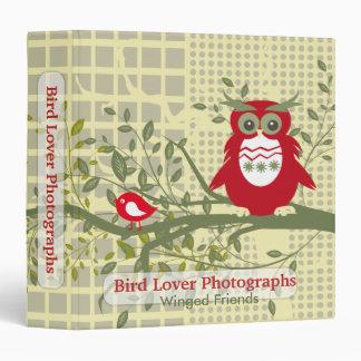 Bird Lover Photographs 3 Ring Binders