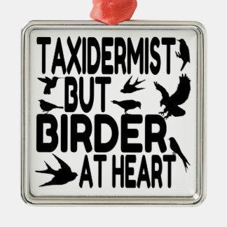 Bird Lover Taxidermist Metal Ornament