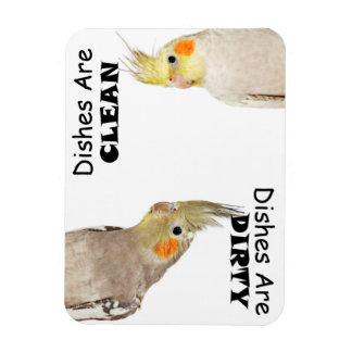 Bird Lovers - Cockatiel - Dirty Dishes Magnet