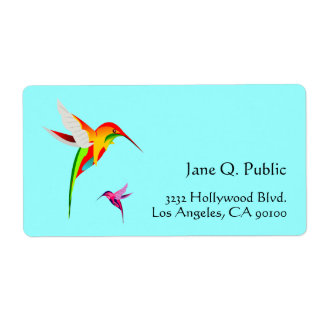 Bird Lovers Hummingbirds Label