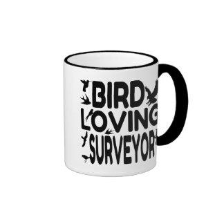Bird Loving Surveyor Ringer Coffee Mug
