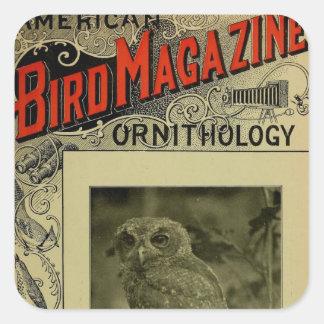 Bird Magazine jun 8 1903 Square Sticker