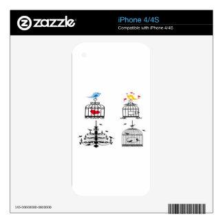 Bird main design iPhone 4 skin