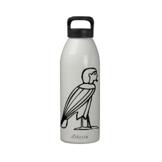 Bird man(Soul), Egyptian hieroglyph Drinking Bottles