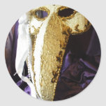 Bird Mask Classic Round Sticker