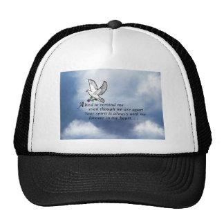 Bird Memorial Poem Mesh Hat