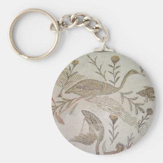 Bird Mosaic in Tunisia Keychain