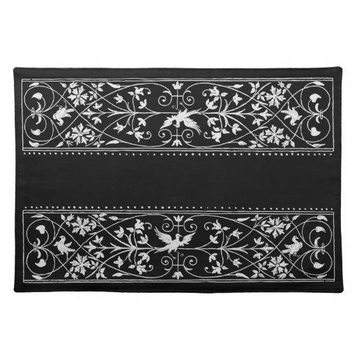bird motif cloth placemat