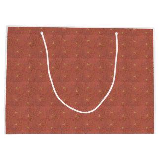 Bird Motif gift bag - tiny print Large Gift Bag