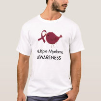 Bird Multiple Myeloma Awareness RIbbon T-Shirt