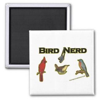 Bird Nerd 2 Inch Square Magnet