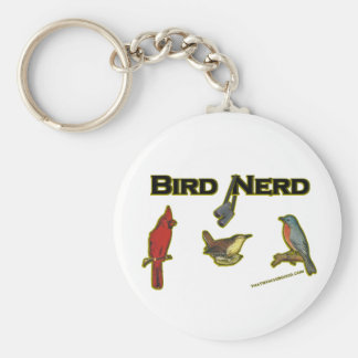 Bird Nerd Basic Round Button Keychain
