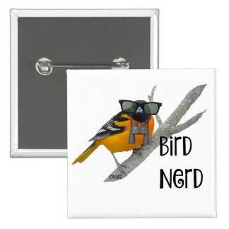 Bird Nerd Button Pin
