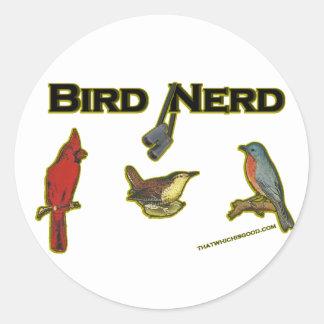 Bird Nerd Classic Round Sticker