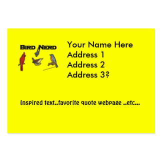 Bird Nerd Large Business Card