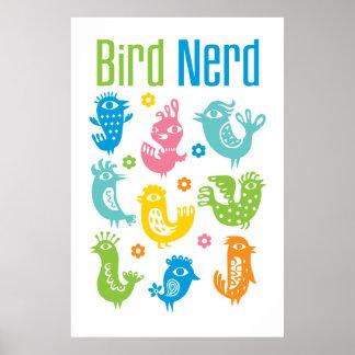 Bird Nerd - pastel Poster