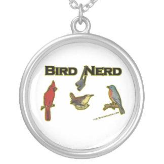 Bird Nerd Round Pendant Necklace