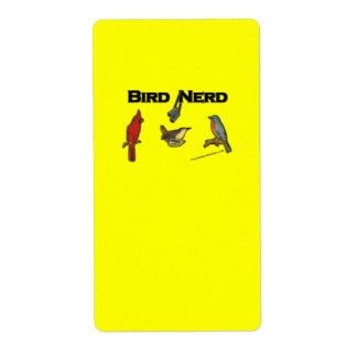 Bird Nerd Shipping Labels
