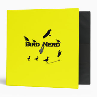 Bird Nerd Silhouette Vinyl Binder