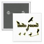 Bird Nerd Silhouette Buttons