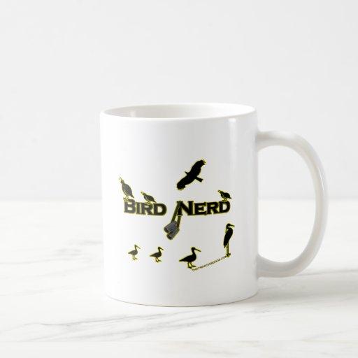 Bird Nerd Silhouette Classic White Coffee Mug
