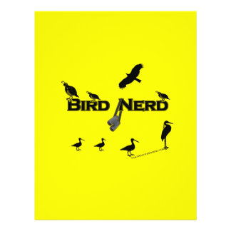 Bird Nerd Silhouette Custom Flyer