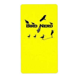 Bird Nerd Silhouette Label