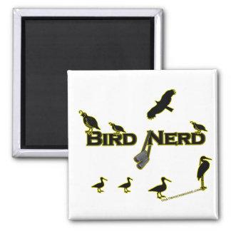 Bird Nerd Silhouette 2 Inch Square Magnet