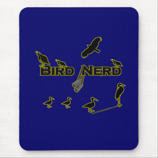 Bird Nerd Silhouette Mousepads