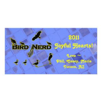 Bird Nerd Silhouette Custom Photo Card
