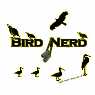 Bird Nerd Silhouette Photo Sculpture Magnet
