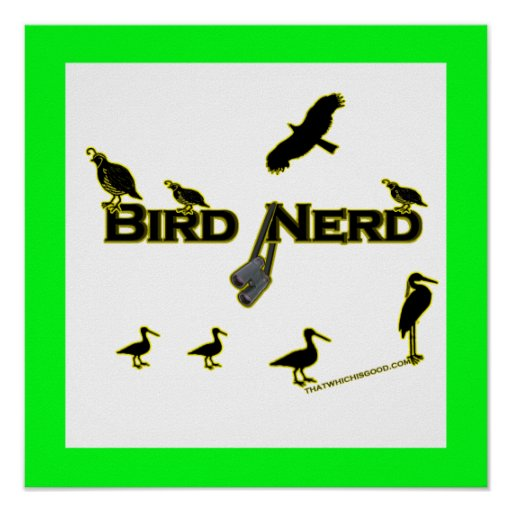 Bird Nerd Silhouette Print