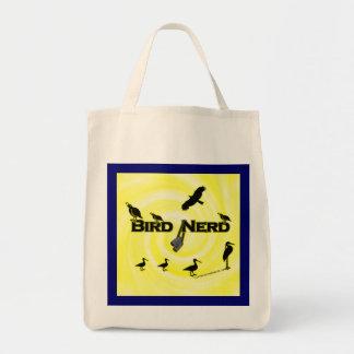 Bird Nerd Silhouette Tote Bag