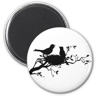 Bird Nest 2 Inch Round Magnet