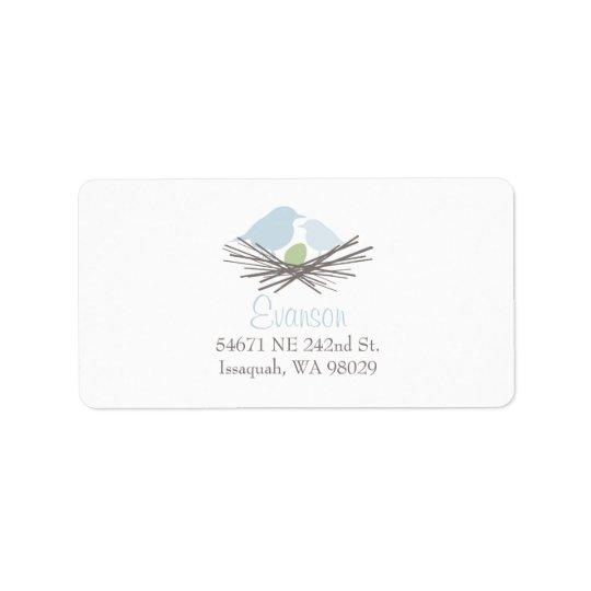 Bird Nest Address Label