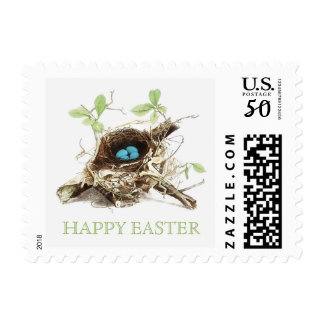Bird Nest and Easter Eggs stamps