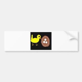 bird nest eggs bumper sticker